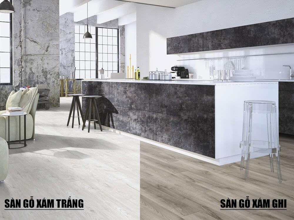 Sàn gỗ màu xám-top 5 mẫu sàn gỗ hot nhất 2020