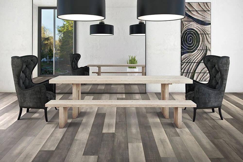 Nhà sơn tường trắng nên chọn sàn gỗ màu gì